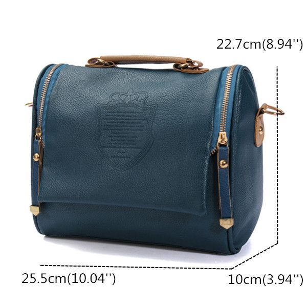 Women PU Leather Vintage Crossbody Bags Crown Retro Shoulder Bags is Worth Buying - NewChic