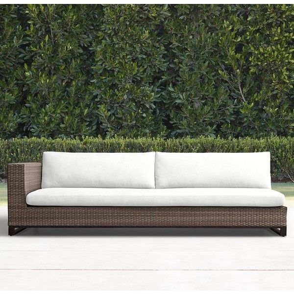 Tiburon Three Seat Left Arm Sofa ($1,995) ❤ Liked On Polyvore Featuring  Home, Outdoors, Patio Furniture, All Weather Patio Furniture, Restoration  Hardware, ...