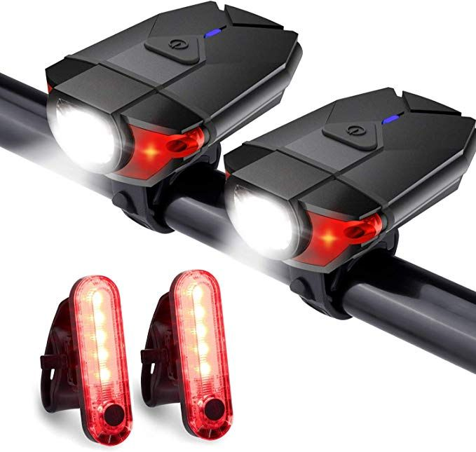 Akale Rechargeable Bike Light Set Led Bicycle Lights Front And