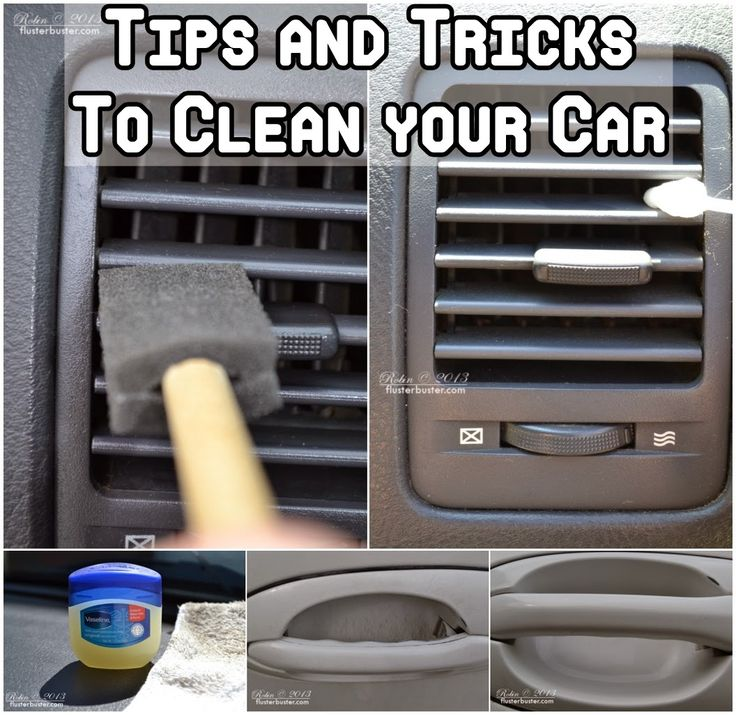 Tips and Tricks To Clean Your Car ... guess if I pin this I will actually need to clean my car!!