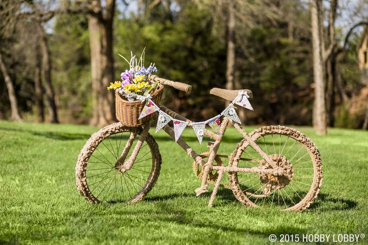 Ride into spring with beautiful blooms and pretty pennants!