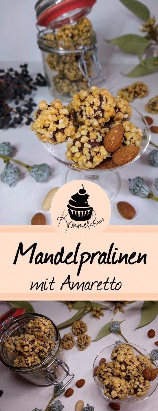 Mehr Mandelgeschmack geht nicht! Gehackte Mandeln, Mandellikör und Amarettini in Kombination mit Schokolade - ein Traum ♥