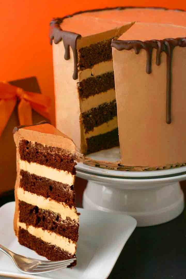 Chocolate And Caramel Cake
