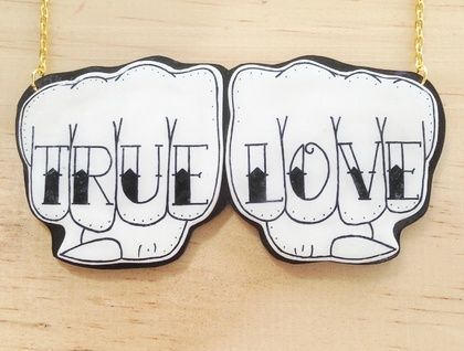 True Love Knuckle Tattoo Necklace