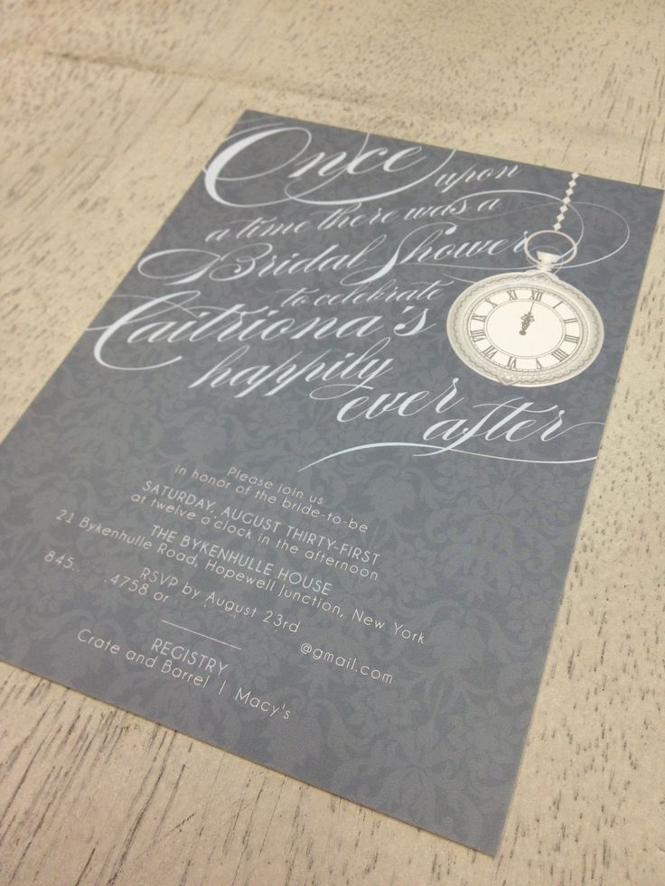 Cinderella themed Bridal Shower Invite
