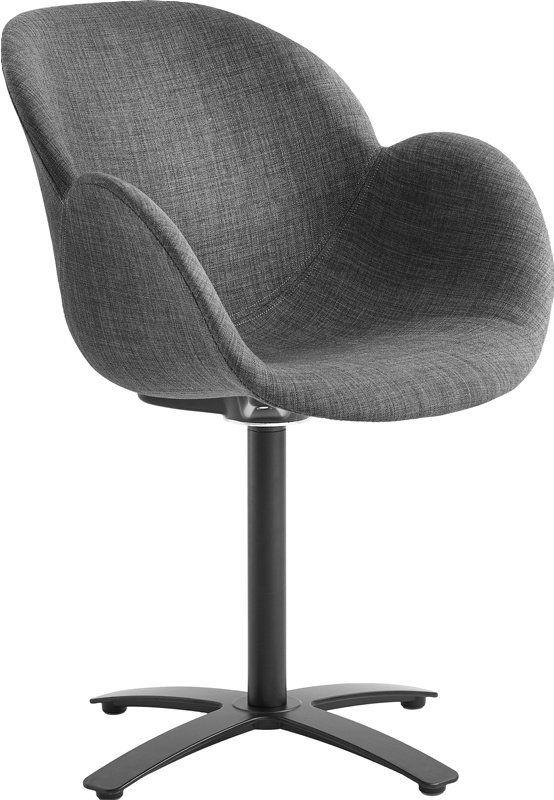 Spisestoler har både praktisk og visuell betydning for hvordan spisestuen og kjøkkenet ditt ser ut. Her finner du mer enn 50 forskjellige stoler, og noe for enhver smak, enten du trenger klassiske hvite kjøkkenstoler, eller om du trenger spisestuestoler med elegant design. Velg mellom flere farger og varianter av skinn, stoff, velour m.fl.Casø Deluxe stol medsvingsort metallfot, polstret sete i grå tekstil