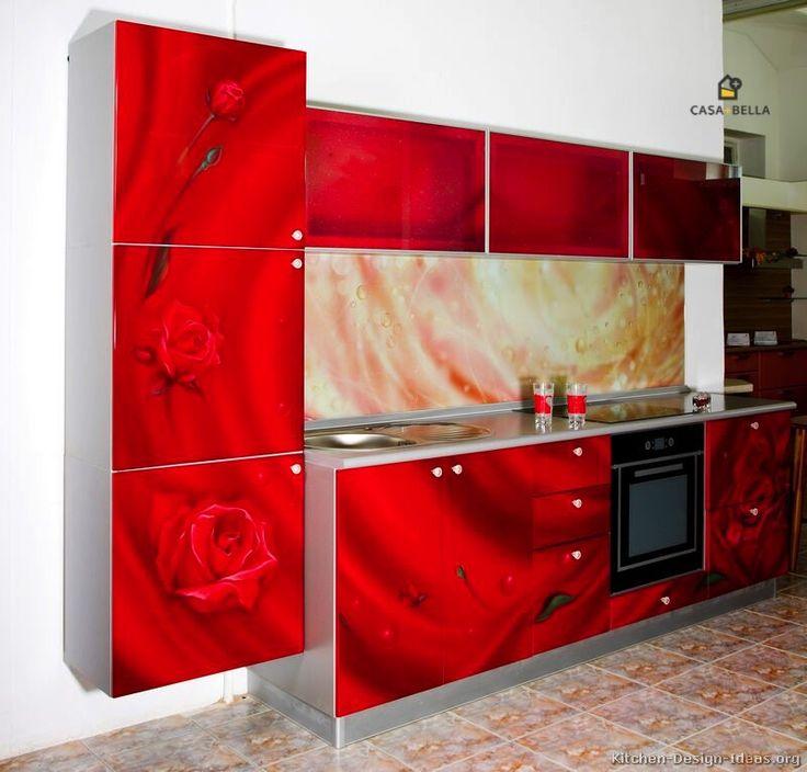 10 best Idee per la cucina images on Pinterest | Red kitchen ...
