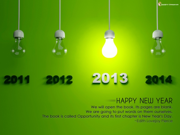 Get Happy New Year Quotes 2013 to wish this new year to your friend and family. For more best new year's wishes quotes browse 123newyear.