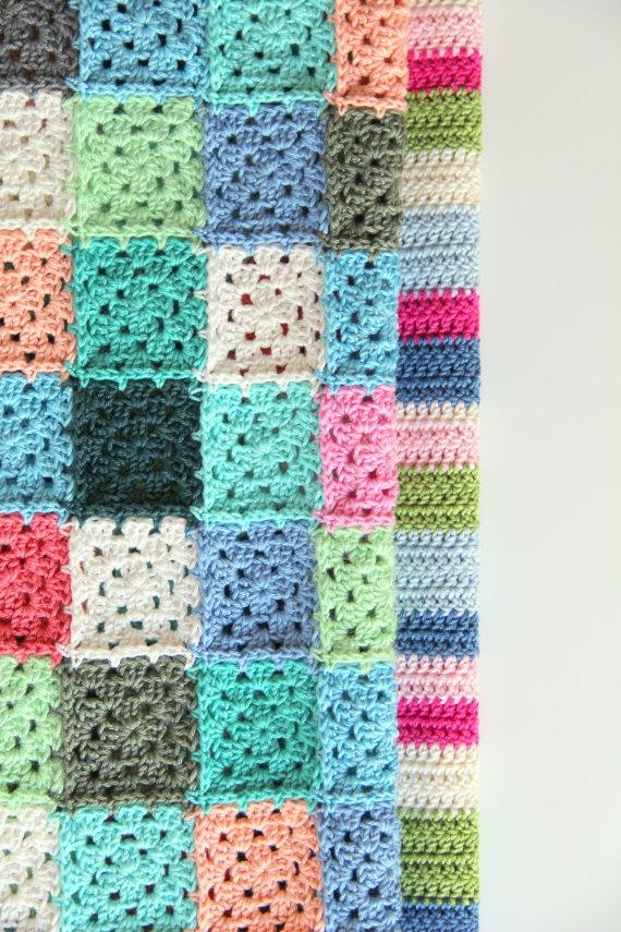 Crochet blankets - interesting way of joining