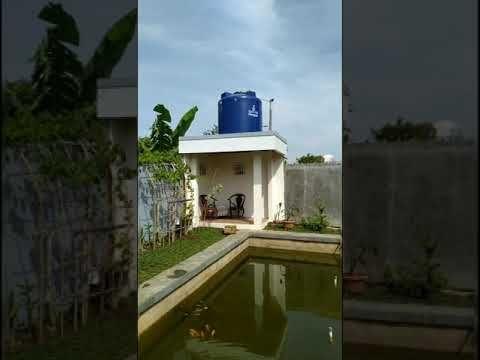 gazebo + r. tidur, toilet, mini bar & kolam ikan - youtube