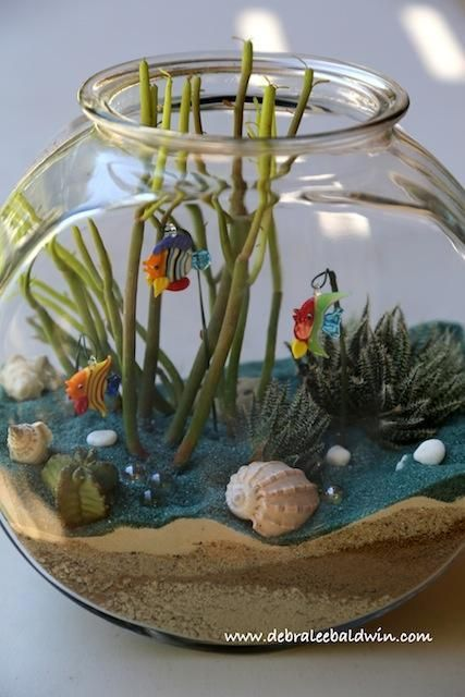 Fish Bowl Succulent Arrangement