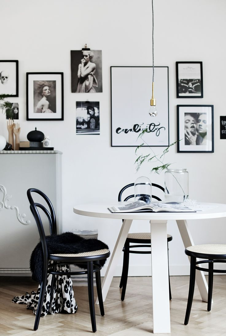 Modern black and white dining room - 215 Best Images About Dining Rooms On Pinterest Table And Chairs Industrial And Eames