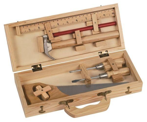 Drewniana skrzynka z narzędziami Moulin Roty