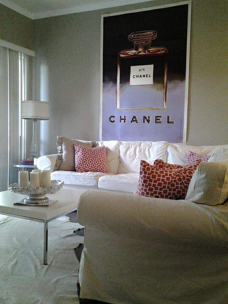 1000+ images about Chanel posters on Pinterest  Living room white ...