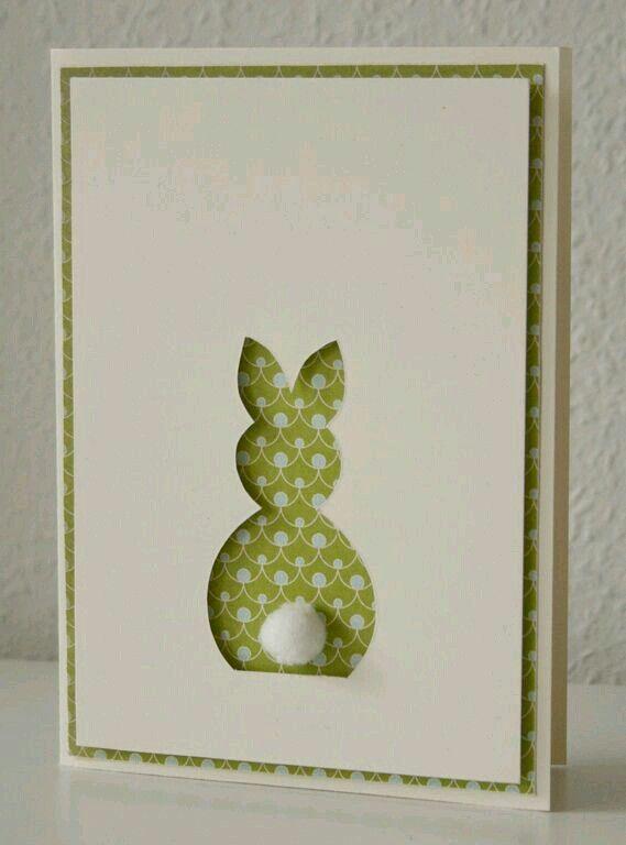 Bunny behind cutout card