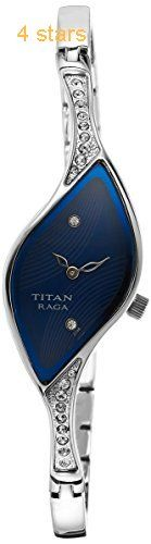 Titan analog Blue Dial Womens Watch  9710SM01