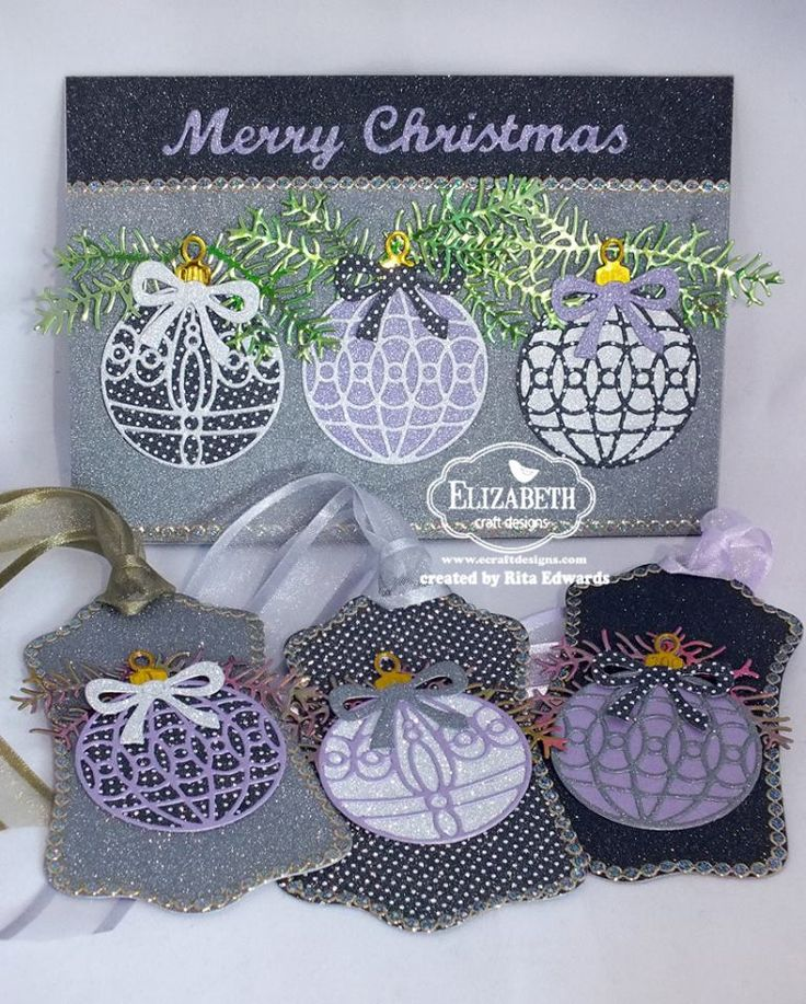 Beautiful Tags And Christmas Card By Rita For Elizabeth