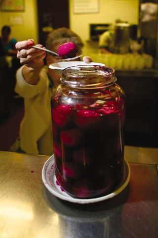 philippe's pickled eggs! need to try this asap. love pickled things.