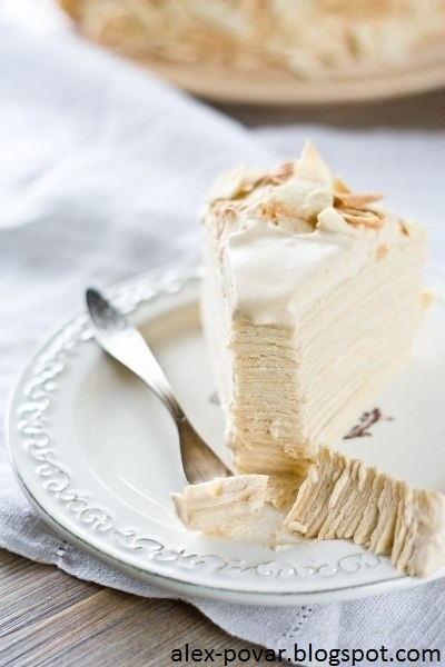 "Самые вкусные рецепты: Торт ""Наполеон"" white"
