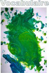 05 vocabulaire peindre en utilisant le vocabulaire : taper, appuyer, frotter