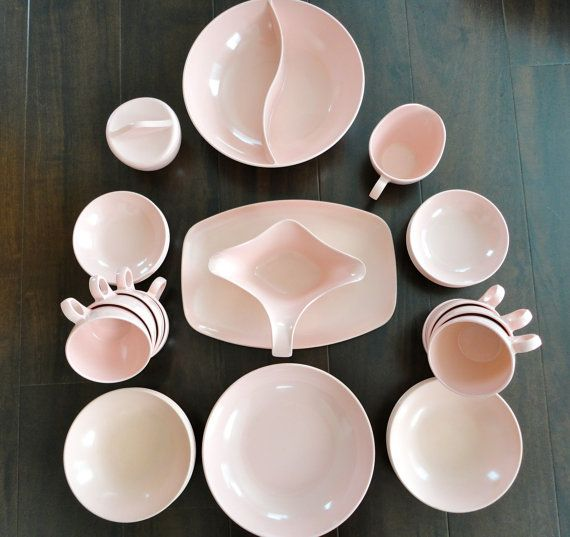 Melmac dinnerware 30 pieces of Pink mid century from KimBuilt & 420 best Melamine/Melmac Dishes images on Pinterest | Dinnerware ...