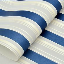 papel de parede. Modern Grey White Blue stripes Wallpaper roll Classic Wall coverings Wall Paper for living room boys bedroom so(China (Mainland))