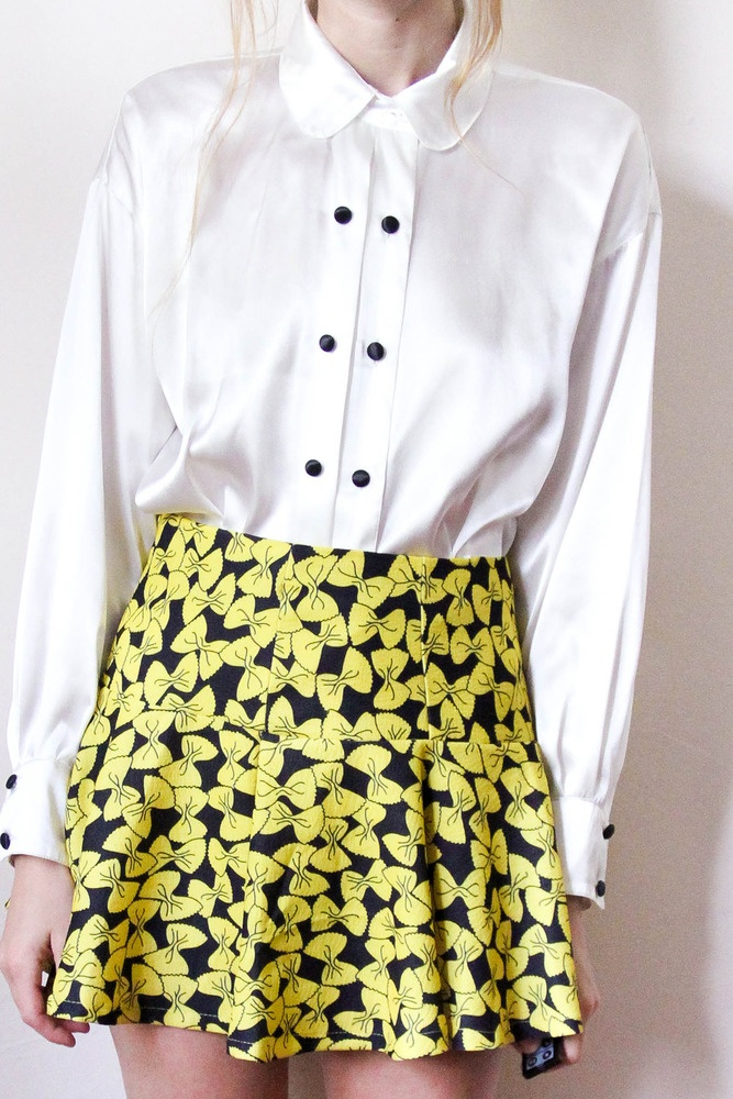 tea and tulips boutique - one of a kind vintage. — yellow bows skirt
