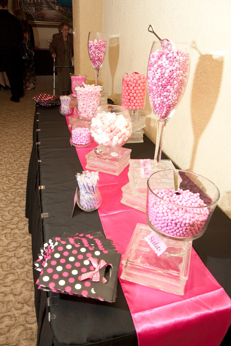another view of our pink candy bar!
