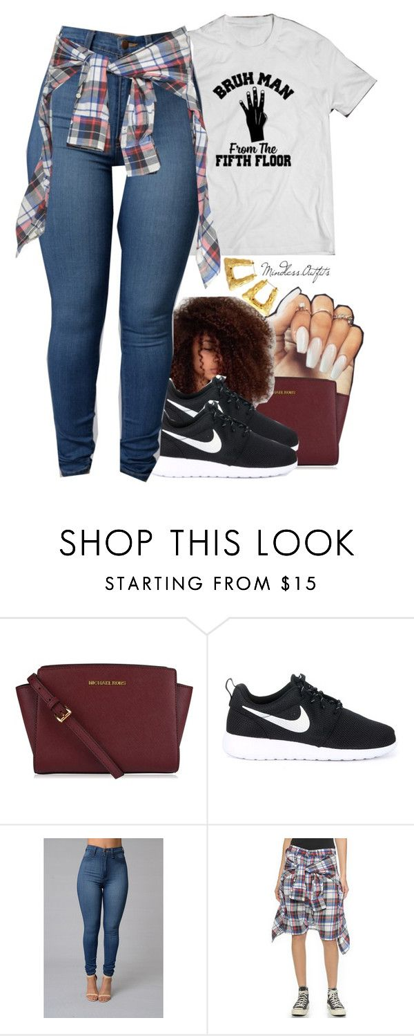 """."" by renipooh ❤ liked on Polyvore featuring MICHAEL Michael Kors, NIKE and R13"