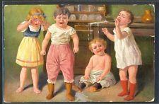 KD139 FIALKOWSKA ENFANTS qui pleurent GROUP of CRYING CHILDREN QUARTET