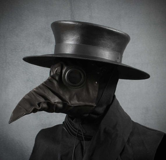 This is a classical plague doctors hat, modeled after the engraving by Paul Fürst done in 1656. It is part of the historical plague doctors costume,