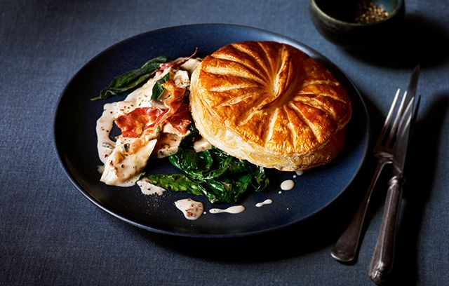 Deconstructed Chicken, Porcini and Pancetta Pie