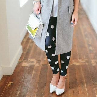 cute polka dot leggings