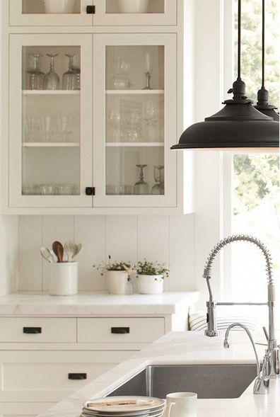 beautiful white farmhouse kitchen