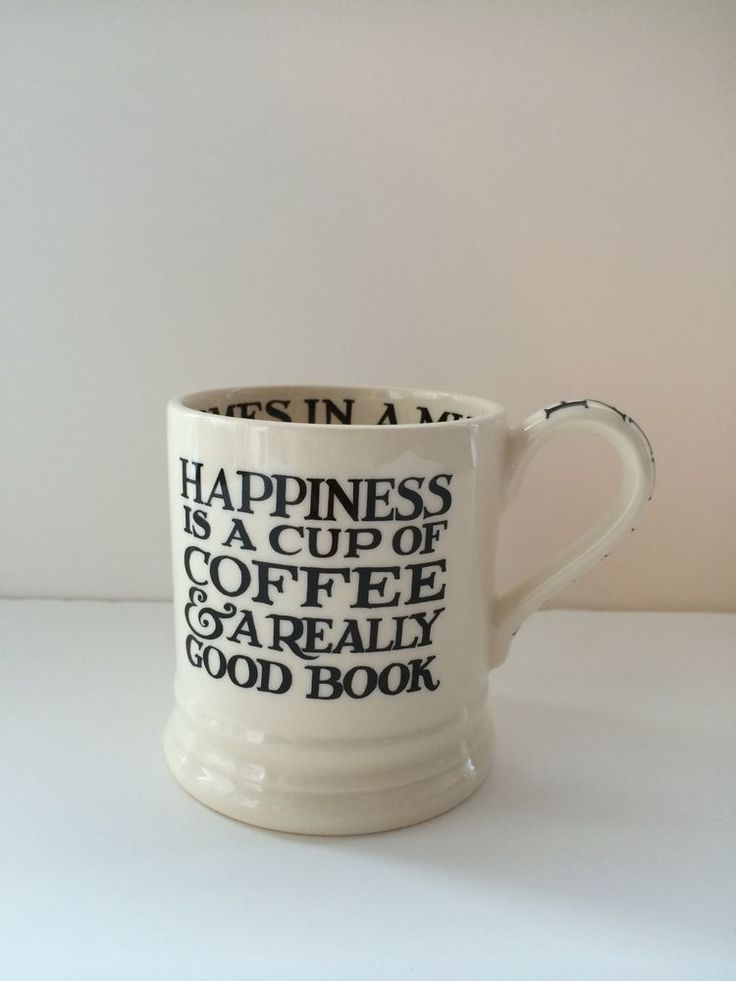 Emma Bridgewater BLACK TOAST & MARMALADE Happiness Coffee & Cake 1/2 Pint Mug #EmmaBridgewater