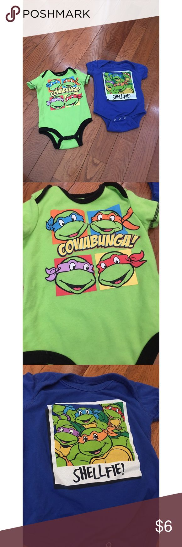 Ninja turtle onesie set So cute and comfy EUC. Nickelodeon Shirts & Tops