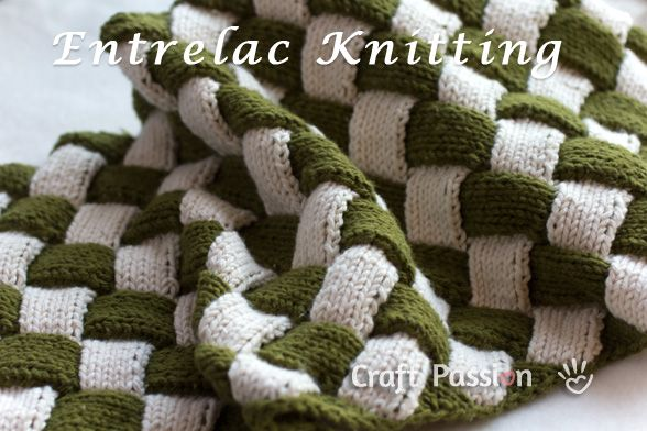 How to knit Entrelac pattern
