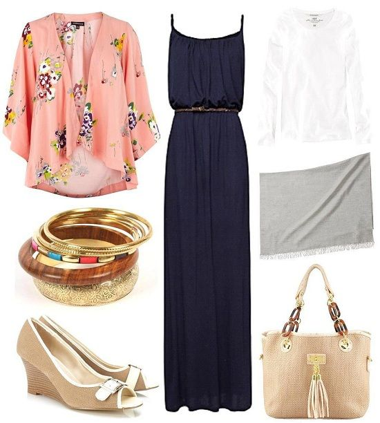 18 Hijab Outfit Ideas  summer navy2