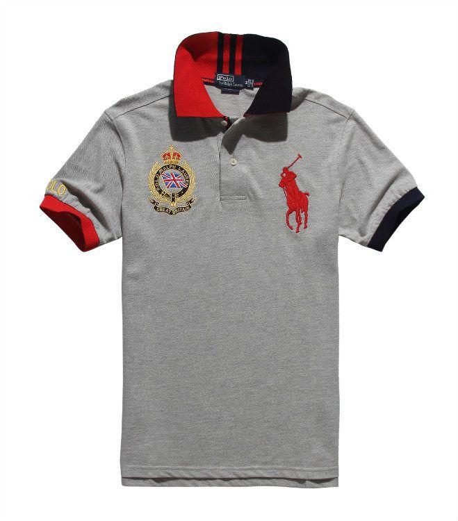 Polo Ralph Lauren Flag Gray T-Shirt,ralph lauren factory store,innovative design