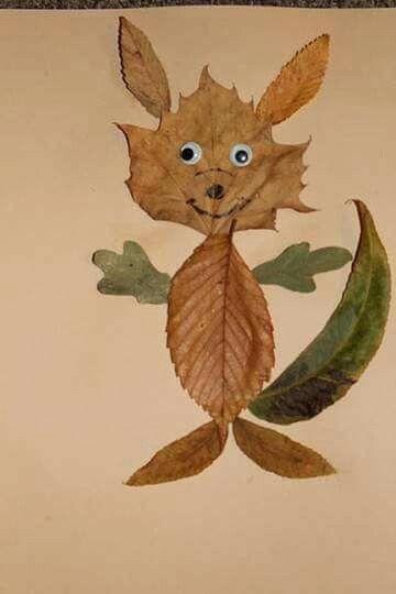 Kettu luonto metsä luonnon materiaaleista lehti askartelu