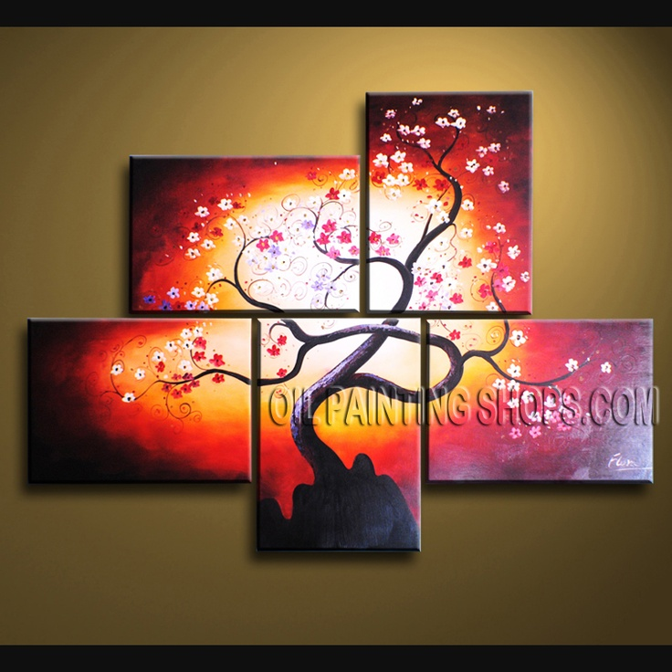 1000 images about floral oil paintings plum blossom on - Oil painting ideas for living room ...