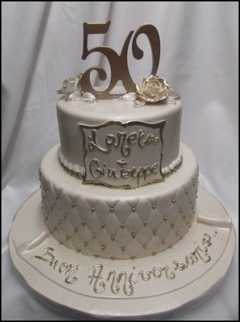 50th Wedding Anniversary Cake Decorations