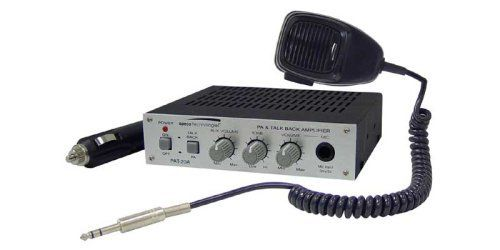 Speco Pat20 Tb 20 Watt 12v Mobile Pa Amplifier With