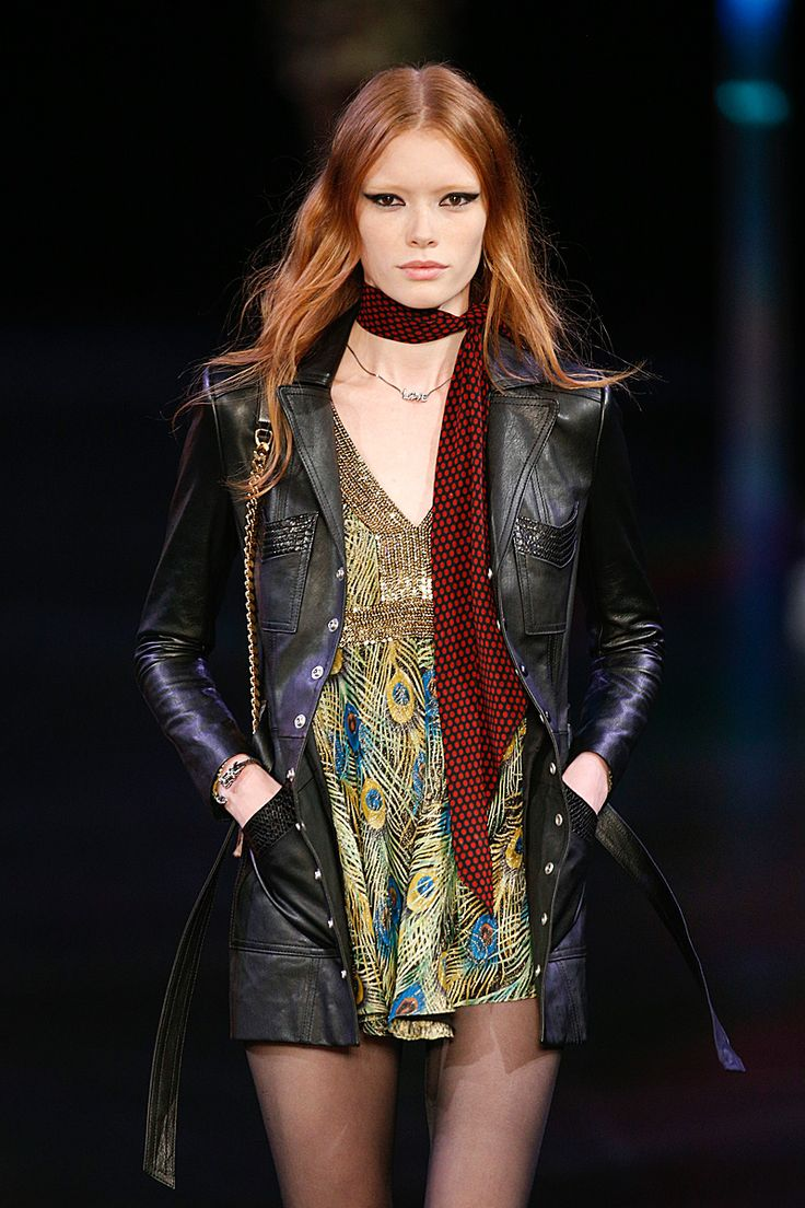 One of Saint Laurent's itty bitty 1970s looks | Top Spring 2015 Trends: 186 runway and street style photos of fashion month's 10 biggest moments