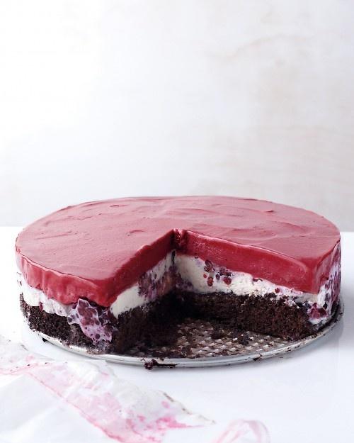 Chocolate-Berry Ice Cream Cake Recipe