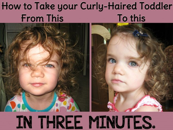 For Ena. How To Style A Curly-Haired Toddler's Hair In Three Minutes and with No Products!