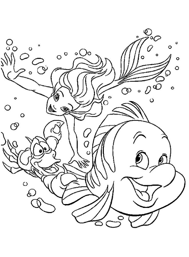 ariel the little mermaid coloring pages for girls to print for free - Ariel Coloring Book