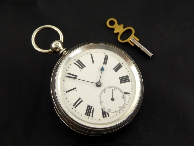 Antique Hallmarked 1877 Sterling Silver Pocket Watch (Needs Work) - The Collectors Bag