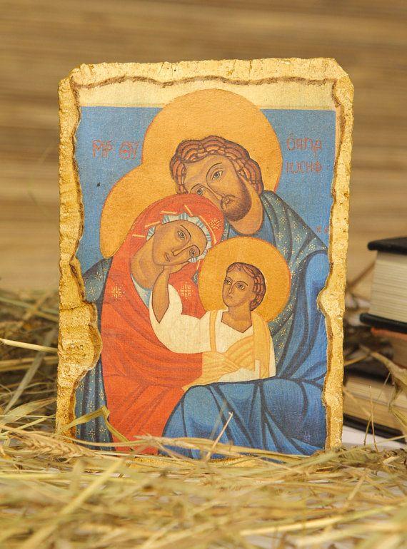 Fresco Holy Family catholic religious gift for by Europeanicons