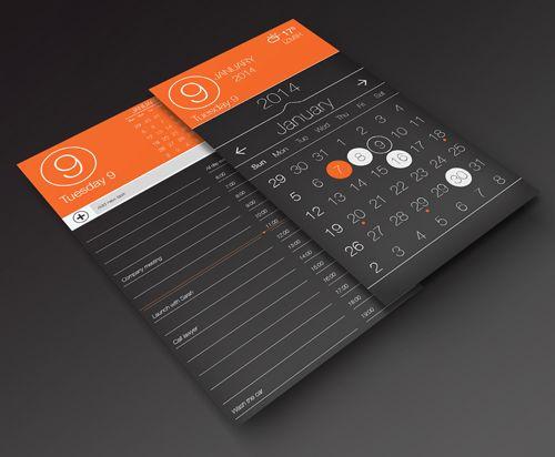 Calendar app ui, task page by by Ali Osman Is
